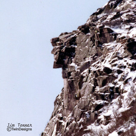 """Old Man in the Mountains"" Ceramic Trivet Original Photograph by Jim Tonner"