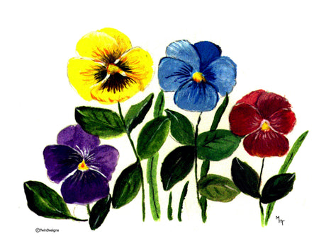 Pansy Note Cards