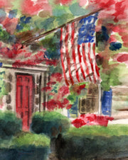 Patriotic House Note Cards