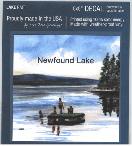 Newfound Lake Raft Decal