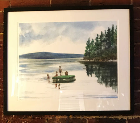 "Limited Edition Framed Print ""Lake Raft"" by Brad Tonner"