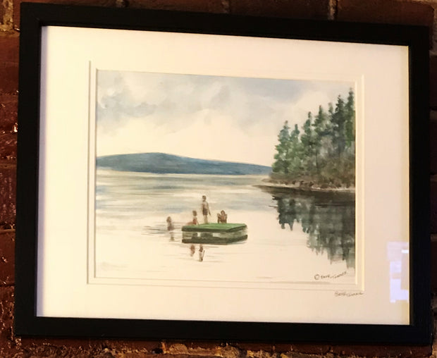 "Framed Print ""Lake Raft"" by Brad Tonner"