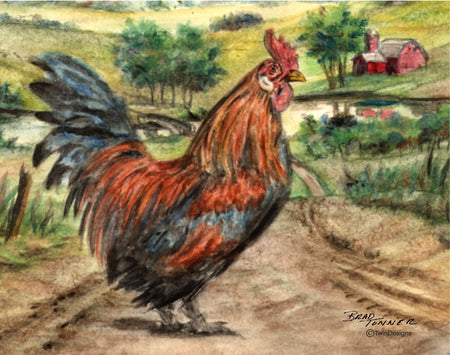 Country Rooster Note Cards