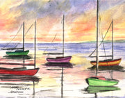 Sailboats Note Cards
