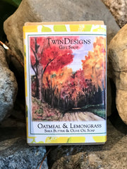 "Soap Featuring a Watercolor by Brad Tonner ""Country Road""."