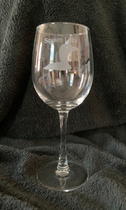 Squam Lake 12oz Loon Wine Glass