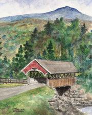 Summer Flume Covered Bridge Note Cards