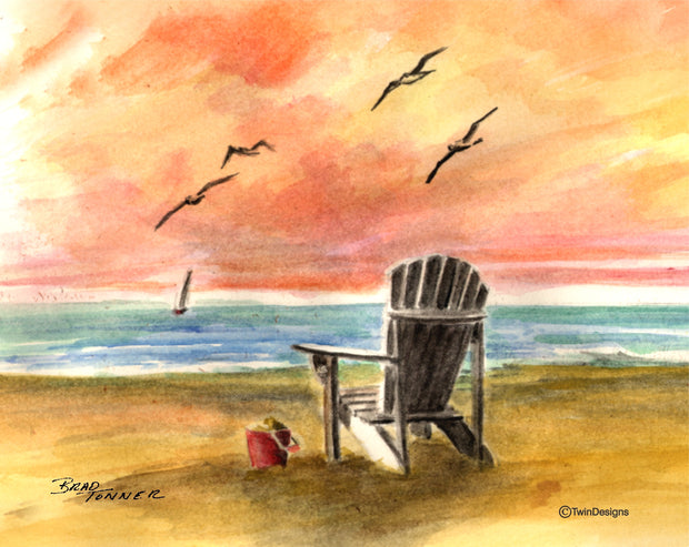Beach Sunrise Note Cards