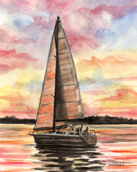 Sunrise Sailing Note Cards