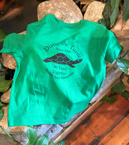 Diane the Turtle Celebrating 50 Years Together Toddler T-shirt size 3T.