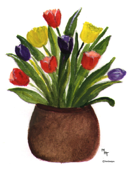 Tulip Pot Note Cards