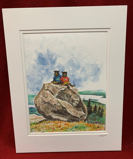 """Bear Memories"" print of an Original Watercolor by Brad Tonner"