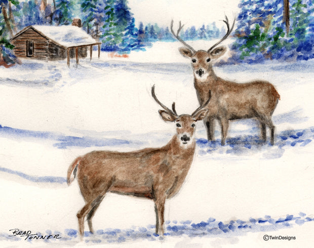 Winter Deer Note Cards