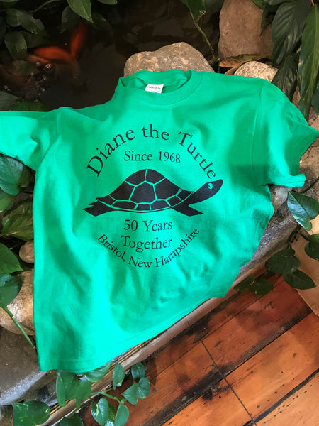 Diane the Turtle Celebrating 50 Years Together Youth T-shirt size Medium.