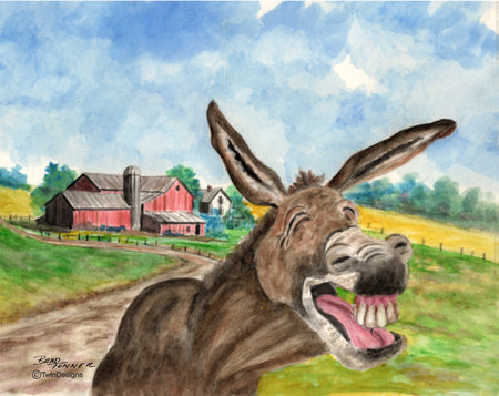 Laughing Donkey Note Cards