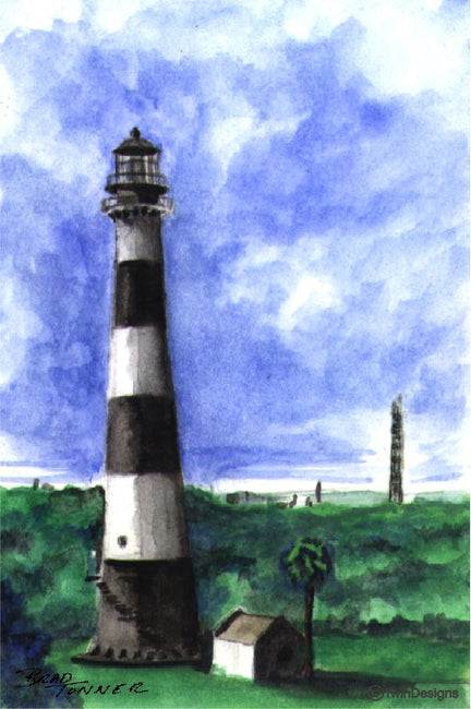 """Cape Canaveral Lighthouse"" Boxed Note Cards Original Watercolor by Brad Tonner"