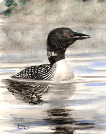 Early Morning Loon Note Cards
