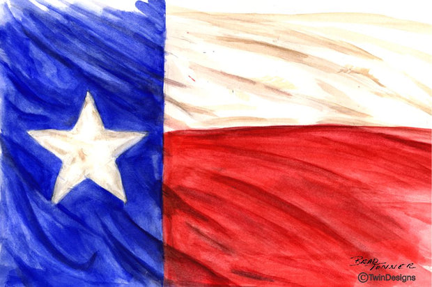 """Texas"" Note Cards Original Watercolor by Brad Tonner"