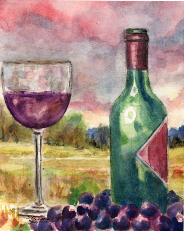 Wine Bottle Note Cards