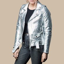 SILVER LEATHER JACKET PRE-SALE