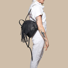 BH&BR x Eleven Thirty Shop Anni Mini Backpack- Black Fringe