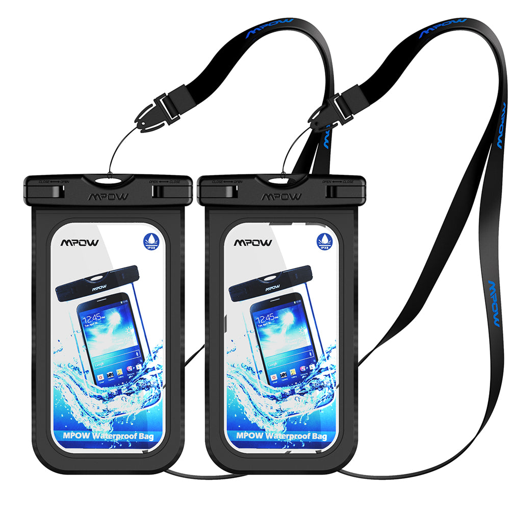 Original Mpow 2PCS IPX8 Waterproof Case 6'' Universal Phone Dry Bag Swimming Diving Pouch Cover for iPhone 7 Plus etc Cellphones - Fashioncrazestore.us