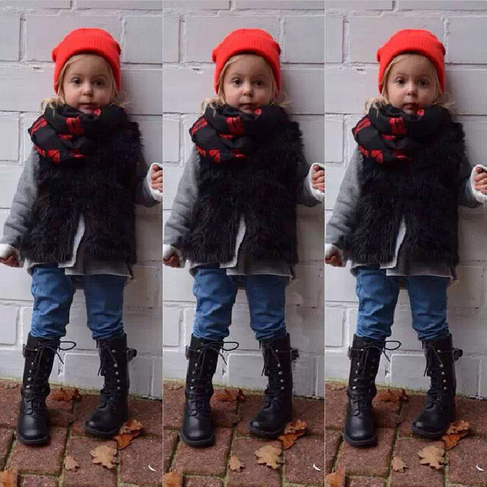 2018 NEW Fashion Toddler/ Kids Winter Warm Faux Fur Thick Vest