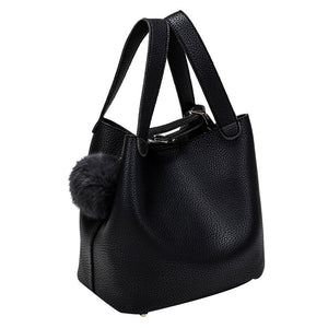2018 Luxury Women Casual Designer Hairball Pure Color Handbags/ Good Quality - Fashioncrazestore.us