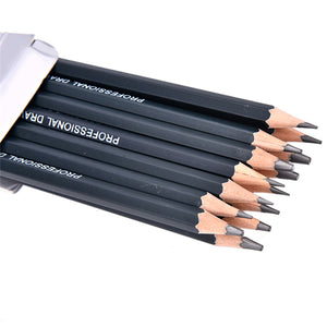 14Pcs/lot Sketch and Drawing Pencil Set HB 2B 6H 4H 2H 3B 4B 5B 6B 10B 12B 1B School Art Writing Supply