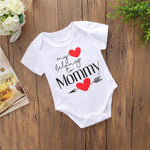 2018 new Baby Printed Mother's Day Unisex Letter Romper