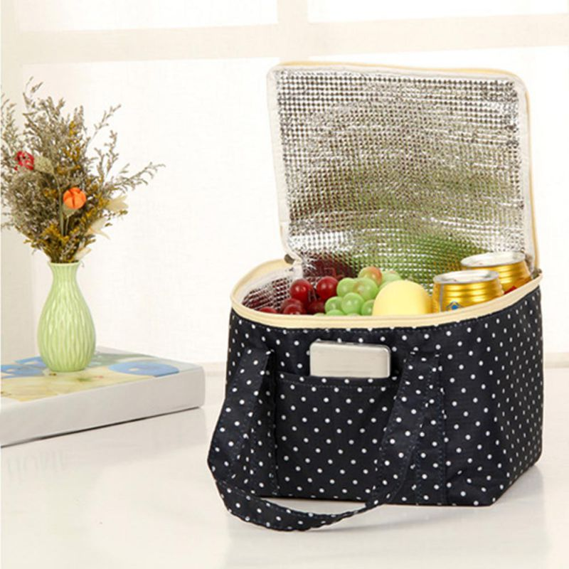 2018 Portable zipper Thermal Snack Lunch Box Carry Tote Travel Picnic Pouch food cool warm item organizer oxford carry ca