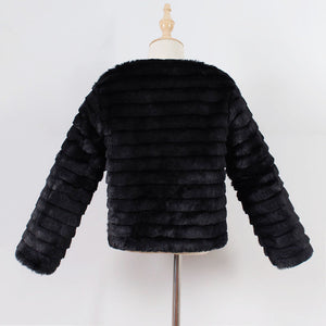 2018 New Fashion Kid's  Autumn /Winter Faux Fur Thick Warm Coat's