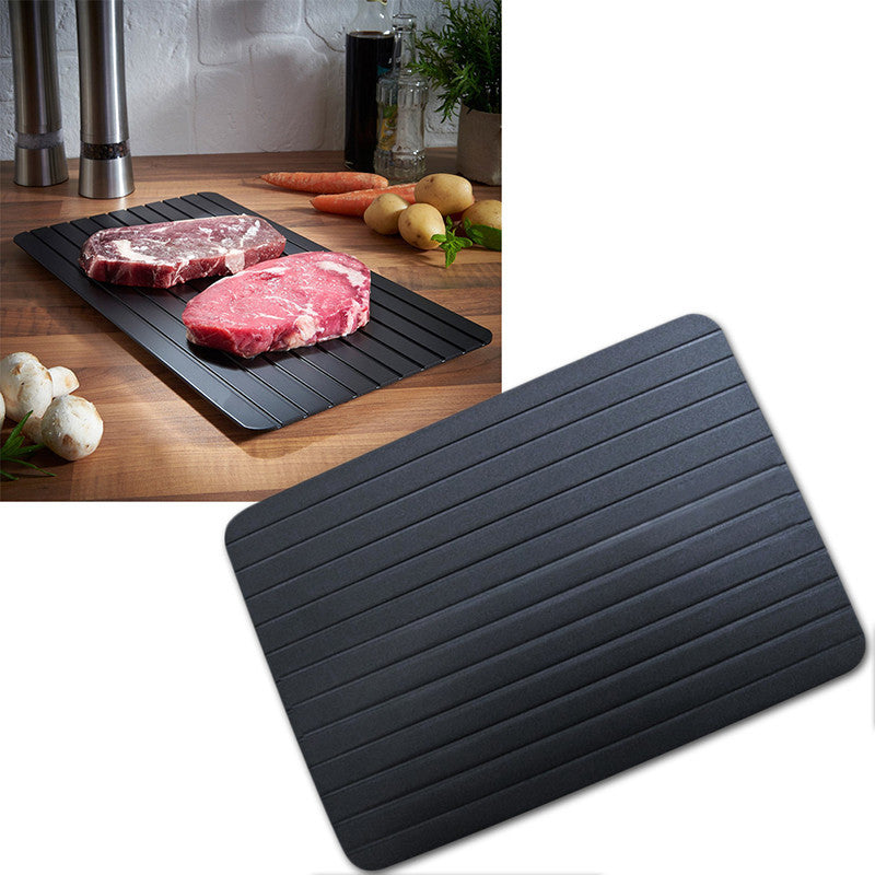 Defrost Tray Thaw Frozen Food Meat Fish In Minutes Home defrosting tray No Electricity Chemicals Microwave - the present id