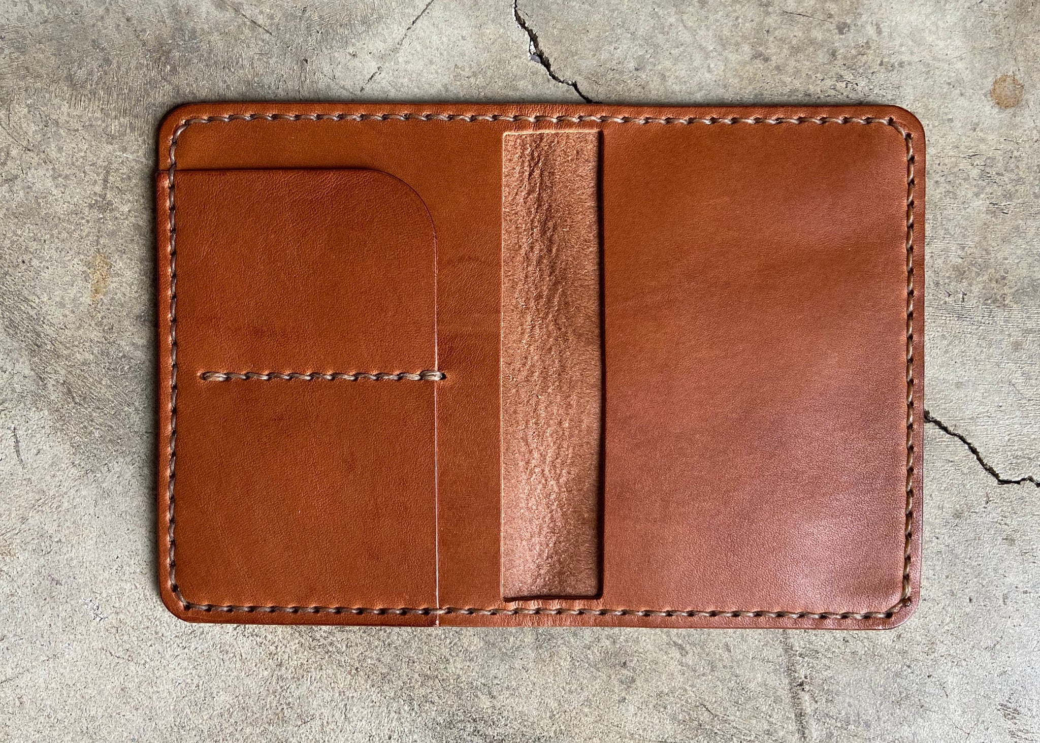 Brown Passport Wallet