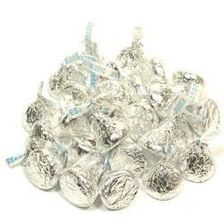 Silver Milk Chocolate Hershey Kisses