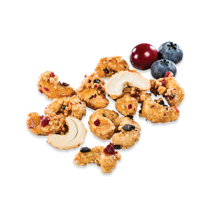 Cashews with blueberry cranberry and quinoa