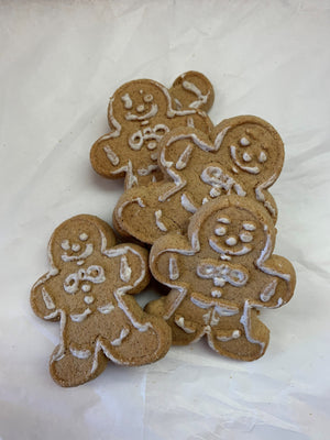 Holiday Iced Gingerbread Cookies