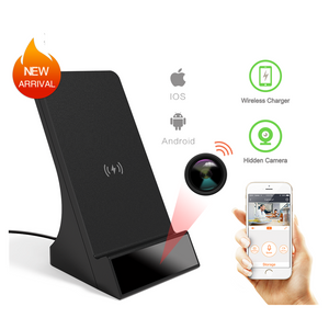 1080P HD WiFi  Surveillance Wireless Phone Charger Camera Motion Activated Security Live View