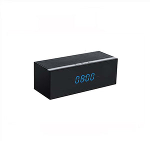 WiFi Surveillance Clock Camera | Bluetooth Speaker | Night Vision | 1080P HD | Motion Activated | Remote Live View With Audio