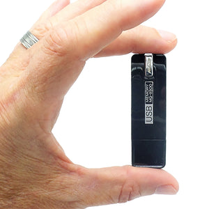 Small Voice Activated Digital Audio Recorder | Long 25 Day Stby Battery Life | USB Flash Drive | 4GB 140 hr Storage