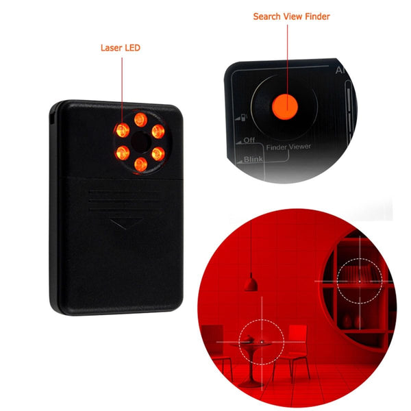 Professional LawMate RD-10 Camera Detector Radio Frequency RF & Laser Wireless Listening Device and Transmitter