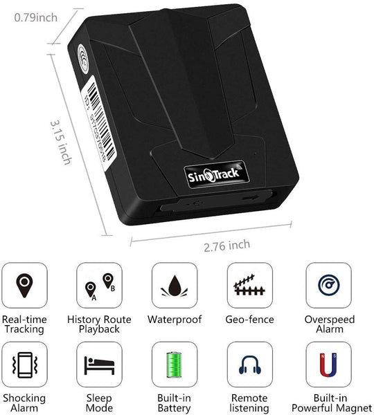 Small Real Time GPS Tracker, Tracking Device Magnetic, Waterproof, Up To 60 Day Long Battery Life