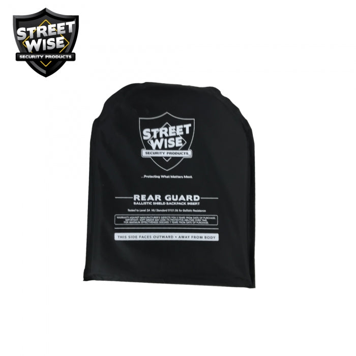 8x10 Rear Guard Ballistic Bulletproof Backpack Insert by Streetwise™