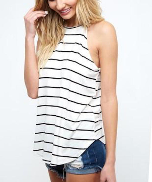 Striped Halter Tank