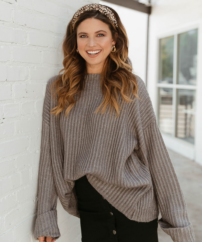 Wide Sleeve Boxy Sweater