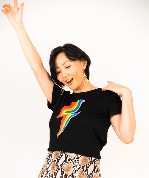 Rainbow Bolt Graphic Tee