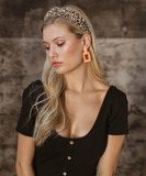 Orange Textured Earrings