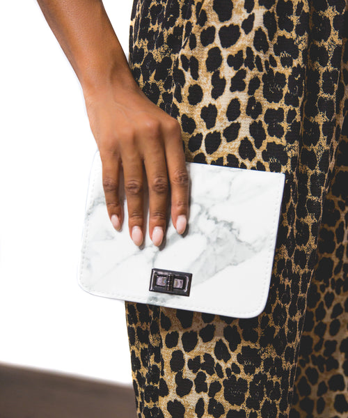 Marble Convertible Clutch
