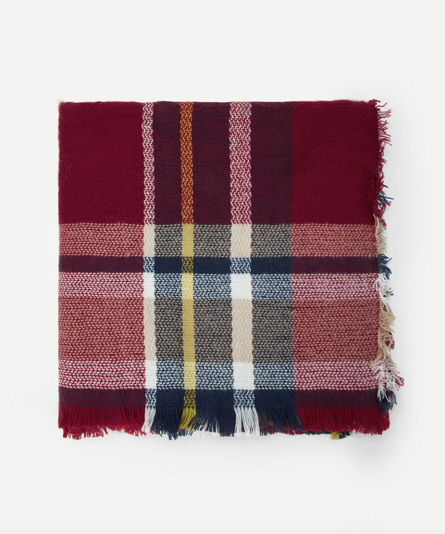 Multi-Color Plaid Scarf