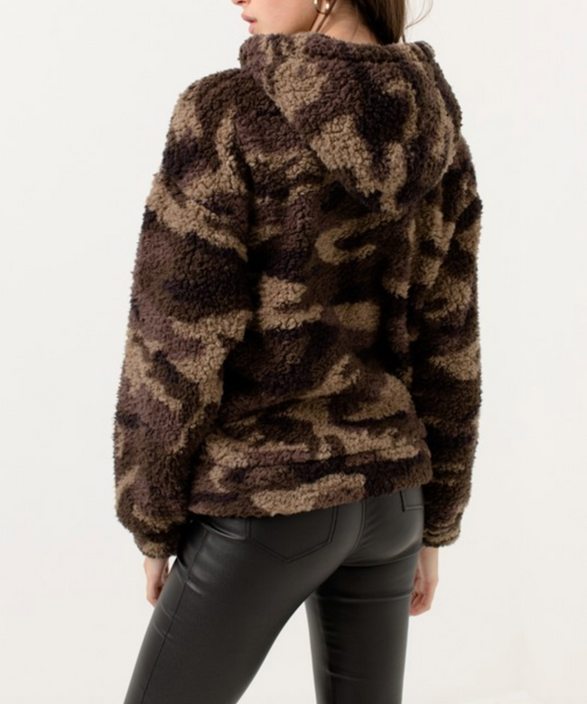 Camo Fleece Teddy Pullover